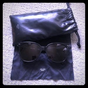 Celine 57mm square sunglasses - Black EC